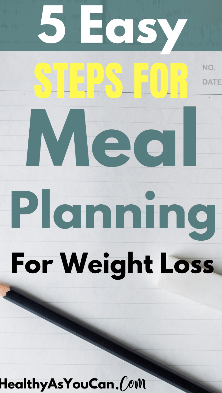 white paper black pencil meal planning for weight loss ideas