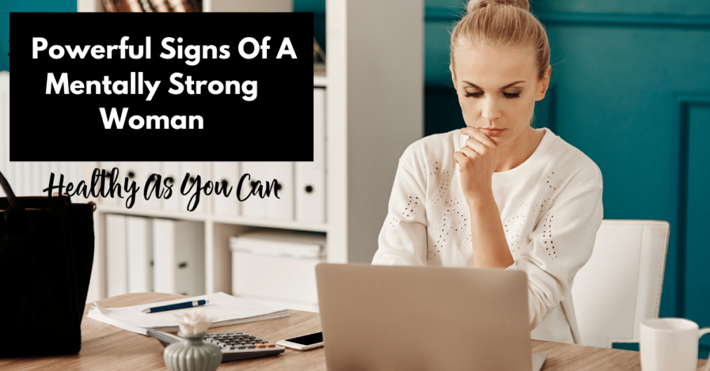 woman concentrating mentally strong