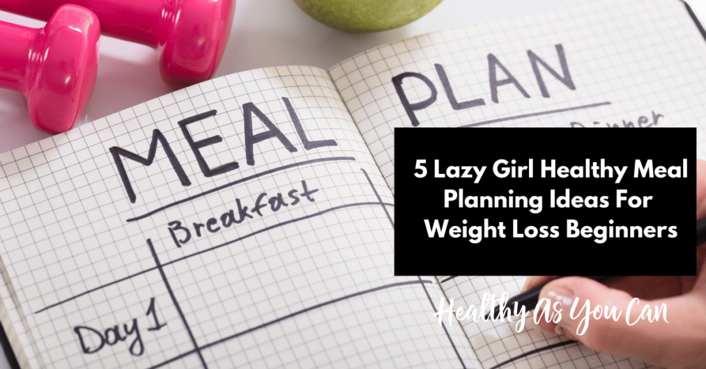 meal plan journal for weight loss