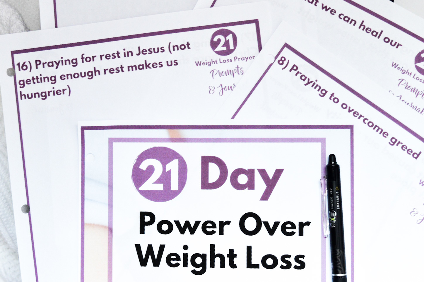 pic of weight loss prayer journal