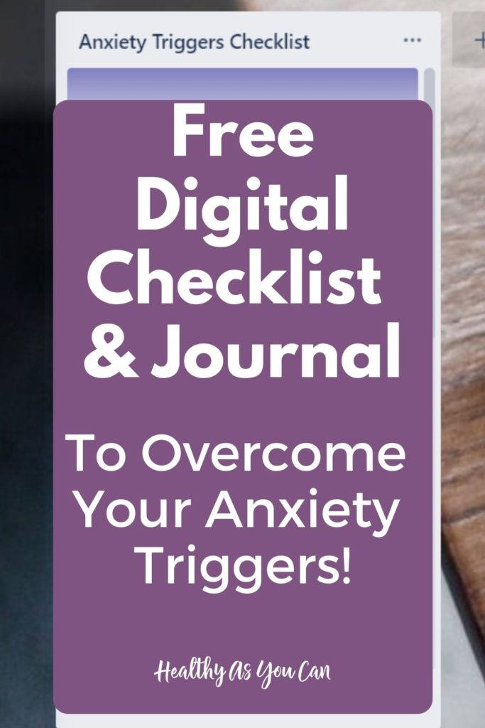 digital and printable anxiety triggers checklist for adults