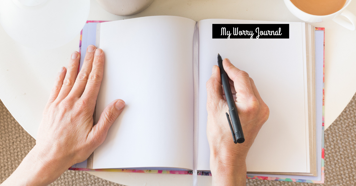 create a worry journal to reduce anxiety