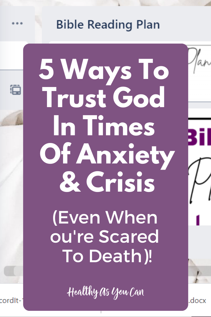 how to trust God in times of anxiety and stress