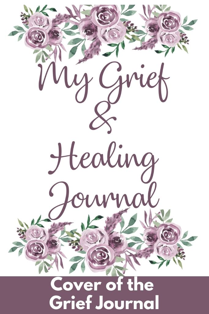 grief journal printable pdf cover download